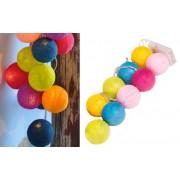 Svítící koule osvětlení led cotton balls 9 míčů