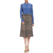 【75%OFF】カシミヤ混ニット×布帛 デザインスカート ミックス 36 ファッション > レディースウエア~~スカート