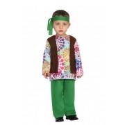 Atosa Disfraz de hippie años 70 psicodélico para bebé niño - Talla 12 a 24 meses