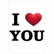 Bellatio Decorations I Love You decoratie poster A1