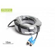 4 pin odstíněný kabel k couvací kameře 15 m