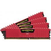 Memorii Corsair Vengeance LPX RED DDR4, 4x4GB, 2400 MHz, CL 14