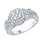 KATARINA Anillo de compromiso de racimo de diamantes en oro de 14 quilates (1 3/8 quilates, J-K, SI2-I1)
