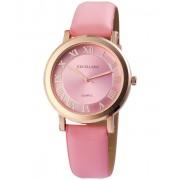Excellanc pretty rózsaszín designbőr szíjas női karóra EX181049TR
