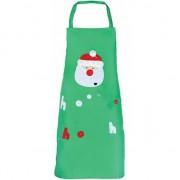 Merkloos Groen kerst schort voor kinderen
