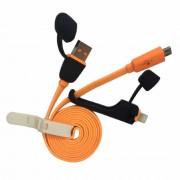 Cablu de date Cager 2in1 Lightning si Micro USB Portocaliu
