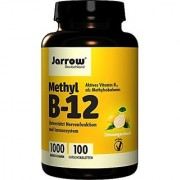 Jarrow Formulas Methylcobalamin (Methyl B12) Supports Brain Cells and Nerve Tissue 1000 mcg 100 Lozenges