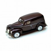 Motor Max 1940 Ford Sedan Delivery, Burgundy - Showcasts 73250 1/24 Scale Diecast Model Car