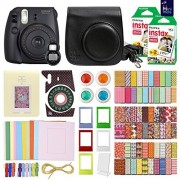 MiniMate Instax Mini 8 Camera with 40 Instax Film and Accessory Bundle, Black