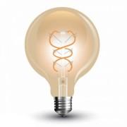 V-TAC E27 5W 300lm 2200K 300 ° Filament LED-izzó nagy gömb búrás