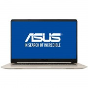 Laptop Asus VivoBook S15 S510UA-BQ482 15.6 inch FHD Intel Core i5-8250U 8GB DDR4 1TB HDD 128GB SSD FPR Endless OS Gold Metal