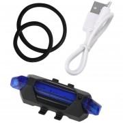 ER USB De La Luz Trasera De Carga De La Luz Azul Bicicleta.