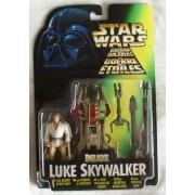 Star Wars Deluxe Luke Skywalker With Desert Sport Skiff By Kenner In 1996 - Packet Is In Poor Condit