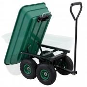 Градинска помощна количка [pro.tec]® 98 x 48 x 47 cm, Зелена