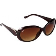 Pede Milan Cat-eye Sunglasses(Brown)