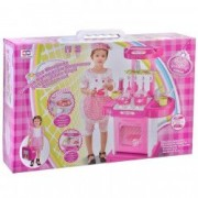 Bucatarie pentru copii accesorii lumini aragaz roz