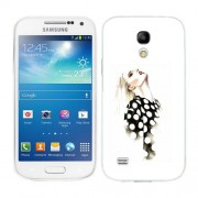 Husa Samsung Galaxy S4 Mini i9190 i9195 Silicon Gel Tpu Model Women Draw V2