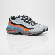 Nike Air Max 95 Premium Wolf Grey/Safety Orange/University Blue