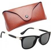 Royce Wayfarer, Retro Square, Rectangular Sunglasses(Black)