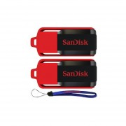 SanDisk Cruzer Switch 16 GB X2 = 32GB USB Flash Drive SDCZ52-016G-B35-2PK W/ Everything But Stromboli (TM) Lanyard