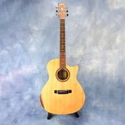 Alicai SMC-170 Outstanding Acoustic Guitar Solid Spruce Top Mahogany Body with Cutaway