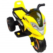 Moto Electrica Musical Infantil Montable LED 6V MSI 3-5 años Amarillo