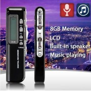 Raldio Microfon spion - reportofon digital 8GB, mp3player