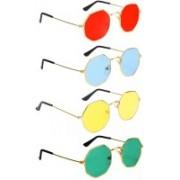 Elligator Retro Square Sunglasses(Red, Blue, Yellow, Green)