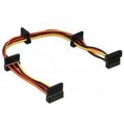 CC-SATAMF-03 Gembird 4-port SATA power extension cable, 0.4m
