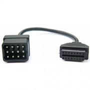 Adapterkabel - Renault 12-pin till OBD2