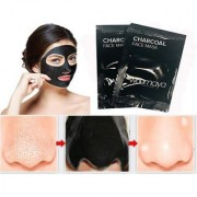 2Pcs Activated Black Charcoal Pore Deep Cleansing Nose Face Blackhead Remover Mask