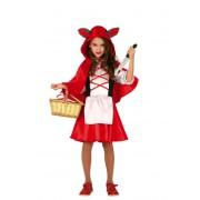 Guirca Disfraz de caperucita roja lobo para niña - Talla 7 a 9 años