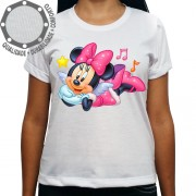 Camiseta Minnie Mouse Music