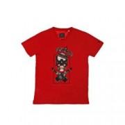 Tricou din bumbac Erben imprimeu craniu Rosu/Negru pentru barbati
