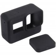 EW Funda protectora de silicona PULUZ Cámara con cubierta de lente para Gopro Hero 5, negro