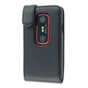 Synthetic Leather Flip Case for HTC EVO 3D - HTC Leather Flip Case (Black)