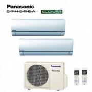 Panasonic CLIMATIZZATORE PANASONIC DUAL SPLIT INVERTER ETHEREA WHITE 9000+9000 con CU-2E15PBE