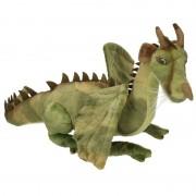 Geen Pluche knuffel draak groen 30 cm