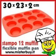 STAMPO SILICONE 12 MUFFIN