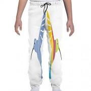 GULTMEE Pantalones de chándal para jóvenes, Minimalista, Bohemio, Nativo Americano, diseño étnico, Tribal folclórico, S-XL, de colores2, Large