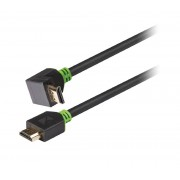 Knig High Speed HDMI kabel met Ethernet HDMI-Connector - HDMI-Connector Haaks 270 2.00 m Antraciet