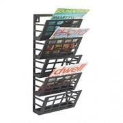 Safco Grid Magazine Rack 5 Pocket, Black, 4661BL