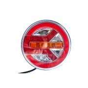 Rundes LED-Rücklicht 12-24V 3 Funktionen