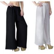 White and Black Palazzo pant trousers on on 249
