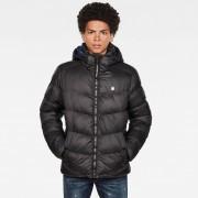 G-Star RAW Heren Whistler Hooded Puffer Zwart - Heren - Zwart - Grootte: Extra Large