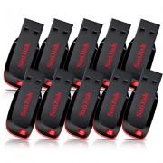 Sandisk 16GB Cruzer Blade Pen drive (Pack of 10)