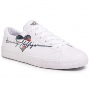 Кецове TOMMY HILFIGER - Low Cut Lace Up Sneaker T3A4-30600-0924 S White 100