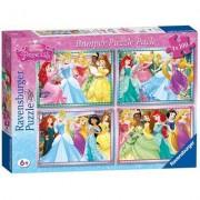Ravensburger set 4 puzzle - principesse disney - 100 pz