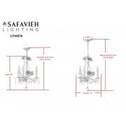 Safavieh Lighting Collection Tempest 3 - Lámpara de Techo, diseño Floral, 38,1 cm Color Blanco