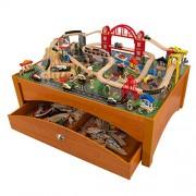 KidKraft Honey Metropolis Table & Train Set